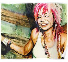 Pink hair Poster