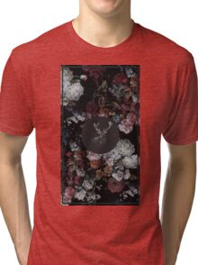 Stag & Flowers Tri-blend T-Shirt