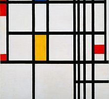 Piet Mondrian, Dutch,  Title Composition in R by Adam Asar