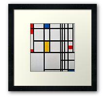 Piet Mondrian, Dutch,  Title Composition in R Framed Print