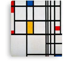 Piet Mondrian, Dutch,  Title Composition in R Canvas Print