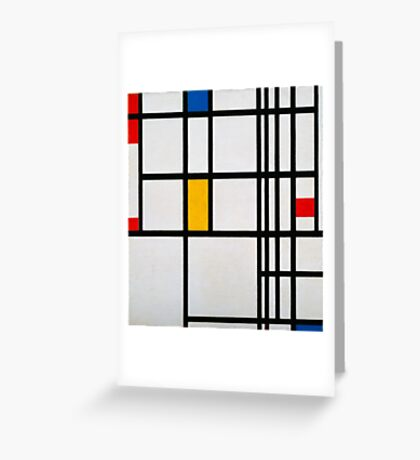 Piet Mondrian, Dutch,  Title Composition in R Greeting Card