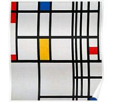 Piet Mondrian, Dutch,  Title Composition in R Poster
