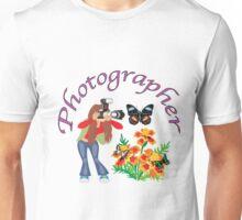 Photographer Photographing Nature Unisex T-Shirt