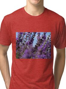 Snowy River Lavender Under Blue Sky Tri-blend T-Shirt