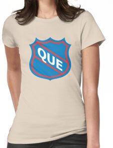 Quebec Old School Crest Womens Fitted T-Shirt