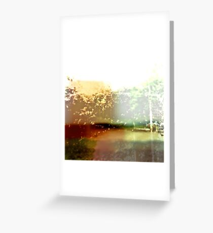 Abstract Botanical Multi-colored Landscape  Greeting Card