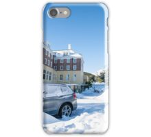 Blue sky after snow fall. iPhone Case/Skin