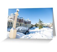 Blue sky after snow fall. Greeting Card