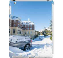 Blue sky after snow fall. iPad Case/Skin