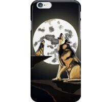 Howling at the Moon iPhone Case/Skin