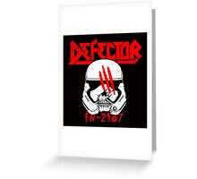 Defector Greeting Card