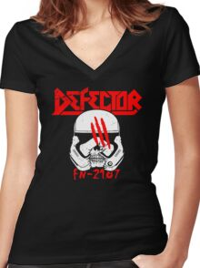 Defector Women's Fitted V-Neck T-Shirt