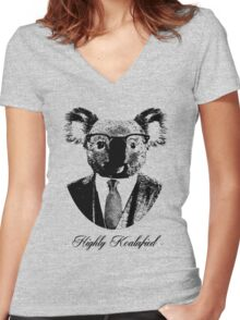 Highly Koalafied Women's Fitted V-Neck T-Shirt