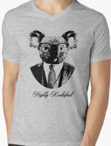 Highly Koalafied Mens V-Neck T-Shirt