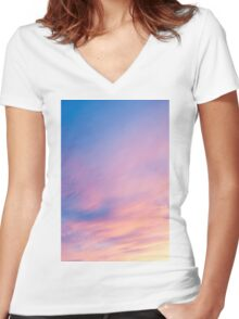 Abstract sky. Women's Fitted V-Neck T-Shirt