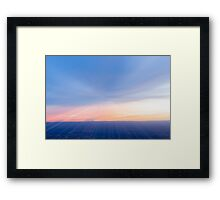 Amazing sky colors in abstract blur. Framed Print