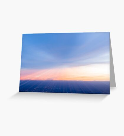 Amazing sky colors in abstract blur. Greeting Card