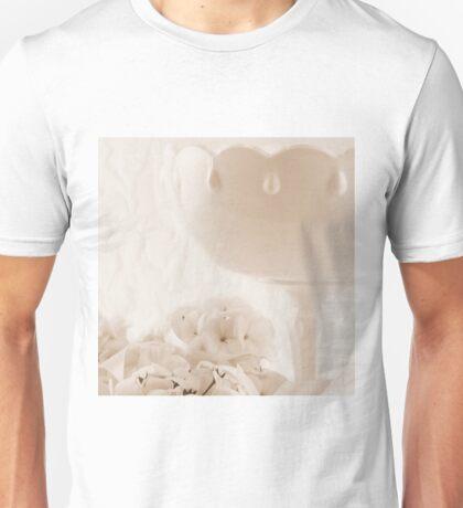 White Geraniums And Pedestal Dish Unisex T-Shirt