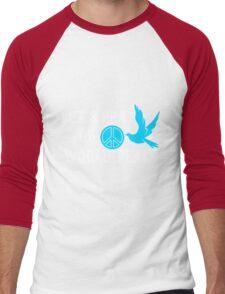 let's pray for world peace Men's Baseball ¾ T-Shirt