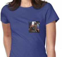 Burmese Cats and the Moon Womens Fitted T-Shirt