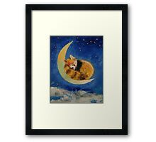 Red Panda Dreams Framed Print