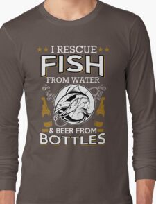 fish and beer Long Sleeve T-Shirt