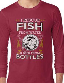 fish and beer Long Sleeve T-Shirt