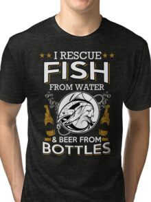 fish and beer Tri-blend T-Shirt