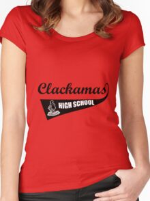 clackamas high school Women's Fitted Scoop T-Shirt