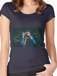 Girl Photographer Women's Fitted Scoop T-Shirt