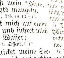 PSALMS 23 v. 1-3 - GERMAN Sticker