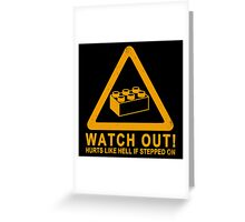 Watchout! Greeting Card