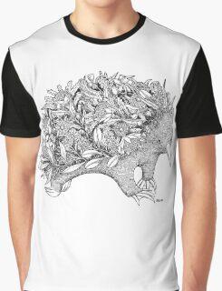 Botanical Echidna Graphic T-Shirt