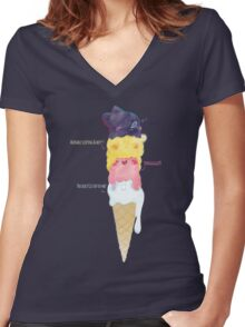 RWBY Flavor Women's Fitted V-Neck T-Shirt