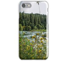 Wildflowers on the Riverbank iPhone Case/Skin