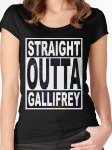 Straight Outta Gallifrey Women's Fitted Scoop T-Shirt