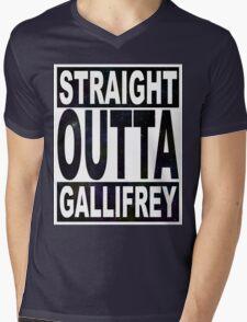 Straight Outta Gallifrey Mens V-Neck T-Shirt