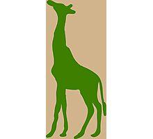 Green Giraffe Silhouette Photographic Print