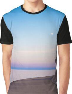 Lake Michigan Moon Graphic T-Shirt