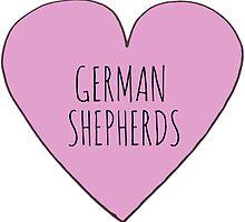 GERMAN SHEPHERD LOVE by Bundjum