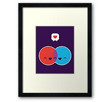 Love Diagram Framed Print