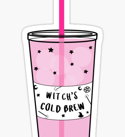 Witch's Cold Brew Coffee ♥ Trendy/Hipster/Tumblr Meme Sticker