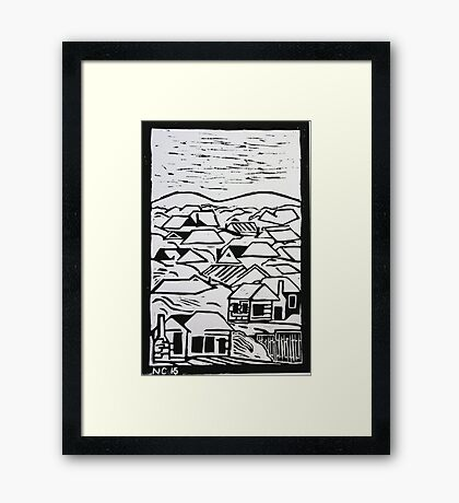 Urban country in monochrome Framed Print