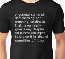 The Scariest Thing To Put On A Shirt (White Text) Unisex T-Shirt