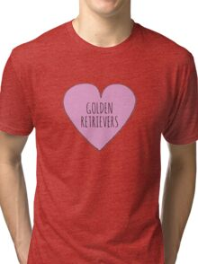 GOLDEN RETRIEVER LOVE Tri-blend T-Shirt