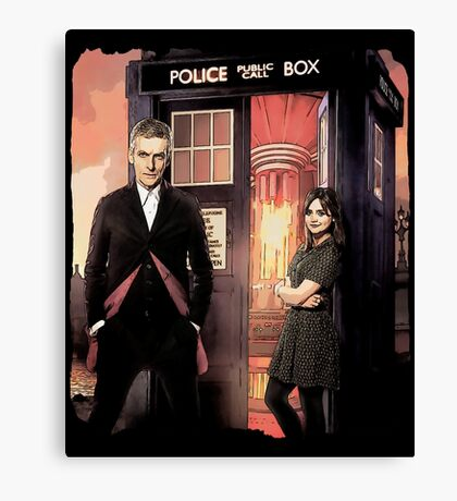 Capaldi Doctor Who Canvas Print