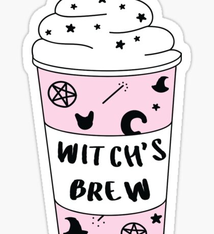 Witch's Brew Coffee ♥ Trendy/Hipster/Tumblr Meme Sticker