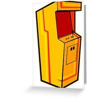 Arcade, Orange Greeting Card