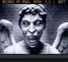Weeping Angel Video Game Sticker